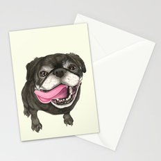 Black Pug Dog Stationery Cards