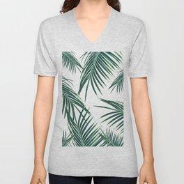 Green Palm Leaves Dream #2 #tropical #decor #art #society6 Unisex V-Neck