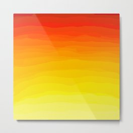 Red to Yellow Sunset Metal Print