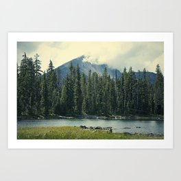 Mt Mcloughlin Art Print