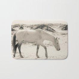 Wild Horses 3 - Black and White Bath Mat