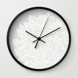 Floral Burst - Gray Wall Clock