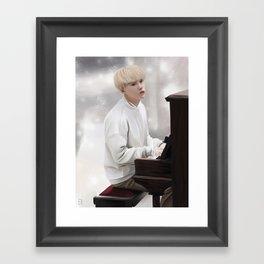 Suga - Piano - Bts Framed Art Print