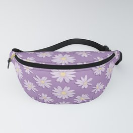 Yellow and Purple Daisy Flower Pattern Fanny Pack