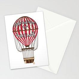 Retro Vintage Balloonist Hot Air Balloon Optimism Optimist Stationery Cards