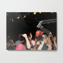 (No) Stagediving Metal Print