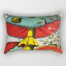 Snail and mushrooms Rectangular Pillow