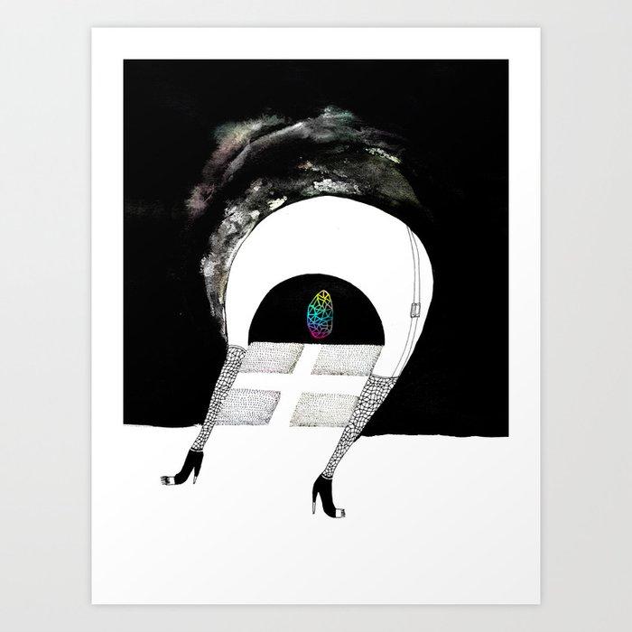 Saída Art Print