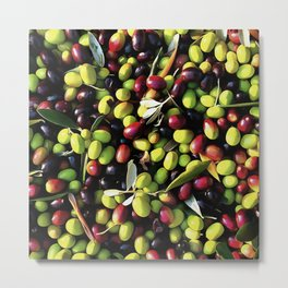 Organic Olives Metal Print