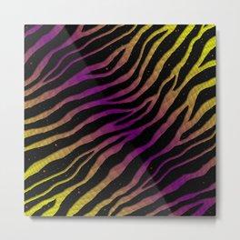 Ripped SpaceTime Stripes - Yellow/Purple Metal Print