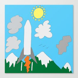 The Space Launch Up And Away Canvas Print