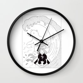 Surfing Friends Wall Clock