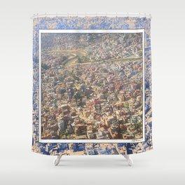 KATHMANDU AERIAL VIEW Shower Curtain
