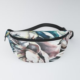 Peonies watercolor painting Fanny Pack