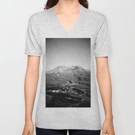 Mount St Helens Holga Black and white film photograph Unisex V-Neck