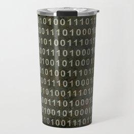 Binary Code - Distressed textured version Travel Mug
