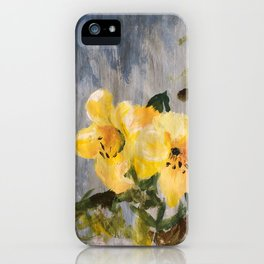painted lilies iPhone Case