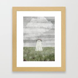 There's A Ghost in the Summer Meadow Framed Art Print