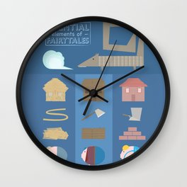 Essential elements of fairy tales Wall Clock