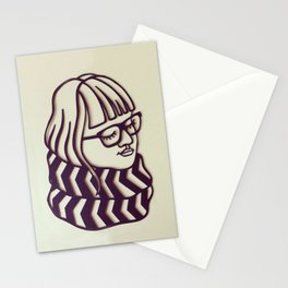 Glasses & Scarf Stationery Cards