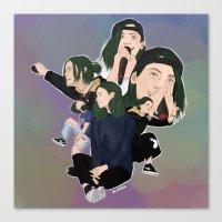jenna kutcher Canvas Prints featuring Jenna by iamewill