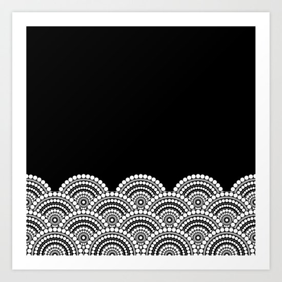 BLACK AND WHITE (abstract pattern) Art Print