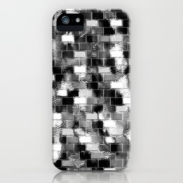 BRICK WALL SMUDGED (Black, White & Grays) iPhone Case
