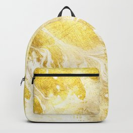 Golden Marble Abstract Backpack