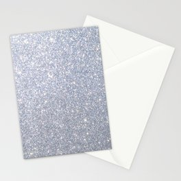 Silver Metallic Sparkly Glitter Stationery Cards