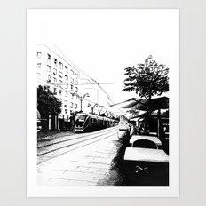 Jerusalem Light Rail Art Print