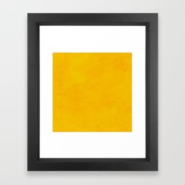 yellow curry mustard color trend plain texture Framed Art Print