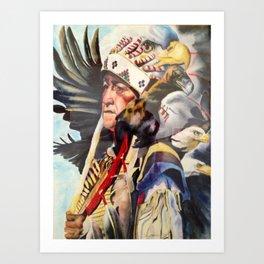 Chief Eagle's Coup Art Print