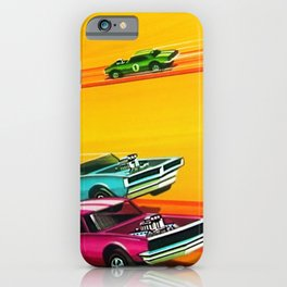 Vintage Hot Wheels Redline Dual-Lane Rod Runner Racing Poster Trade Print iPhone Case