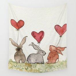Honey Bunny Love Wall Tapestry