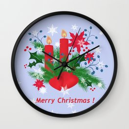 Christmas background . Wall Clock