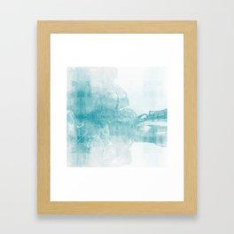 Ink Spot No. 2 | Turquoise Framed Art Print
