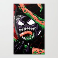 To Catch A Spider (Purple Symbiote) Canvas Print