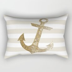 GLITTER ANCHOR IN GOLD Rectangular Pillow