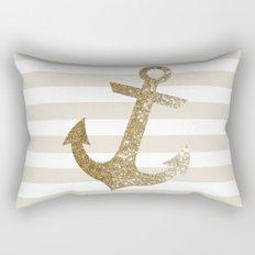 GLITTER ANCHOR IN GOLD Rectangular Pillow