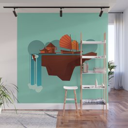 Floating Island (Water House) Wall Mural