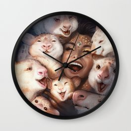 Drowning Joy Wall Clock