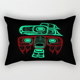 Native American style Tlingit Thunderbird Rectangular Pillow