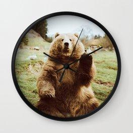 Hi Bear Wall Clock