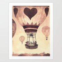 valentine Art Prints featuring Valentine by Chuck Groenink