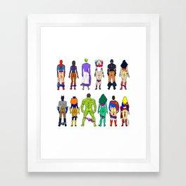 Superhero Butts - Power Couple Framed Art Print