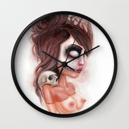 Deathlike Skull Impression Wall Clock