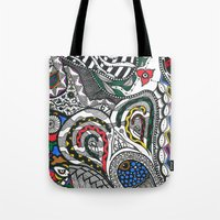 jay fleck Tote Bags featuring jay by Anouki Art