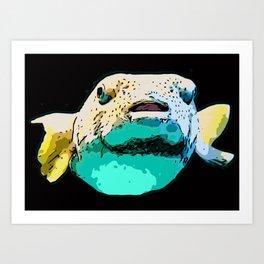 Puffer Fish/Blowfish Art Print