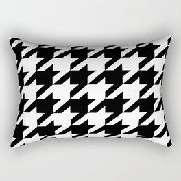 dogtooth black and white Rectangular Pillow