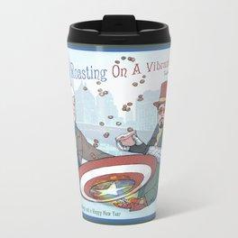 Superheroic Seasons Greetings (Chestnuts Roasting) Metal Travel Mug